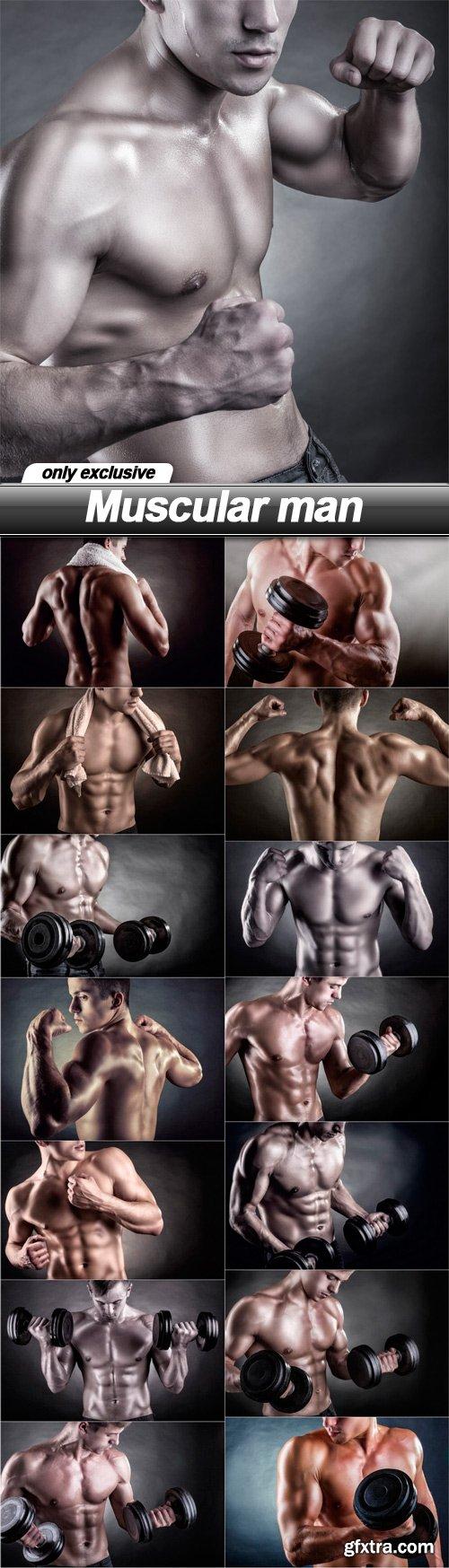 Muscular man - 15 UHQ JPEG