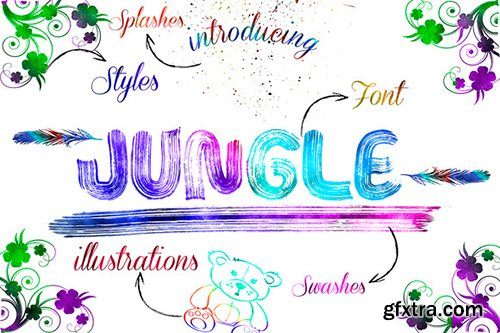 CreativeMarket Jungle FONT+Extra Limited Time 482561
