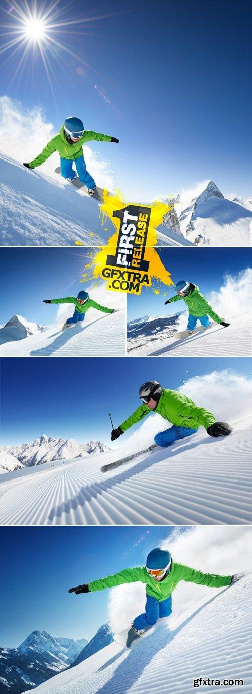 Stock Photo - Man Skier