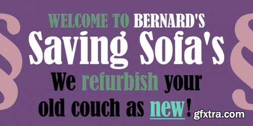 Bernard Condensed Font Family
