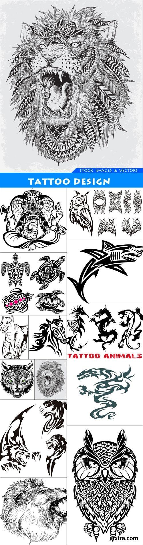 tattoo design 13X EPS