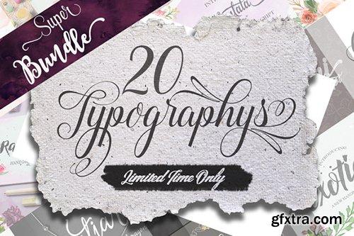 CreativeMarket Super Bundle 20 Fonts 484752
