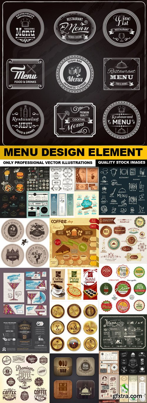 Menu Design Element - 25 Vector