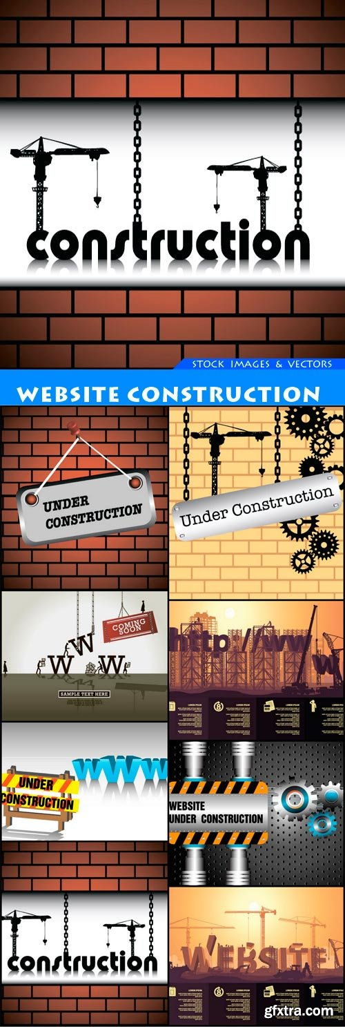 website construction 8X EPS