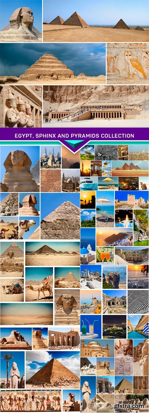 Egypt, sphinx and pyramids collection 8x JPEG