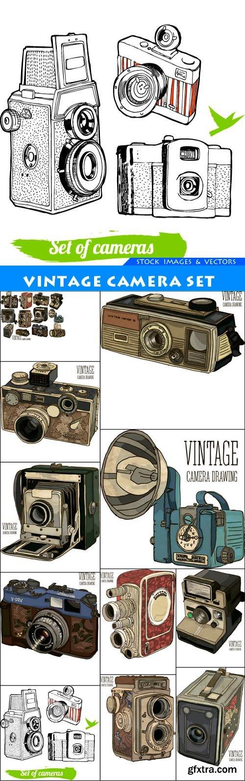 vintage camera set 11X EPS