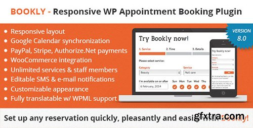 CodeCanyon - Bookly v8.0 - Book Appointments, Book Services, Book Anything! Easy and Fast Booking for Your Clients! - 7226091