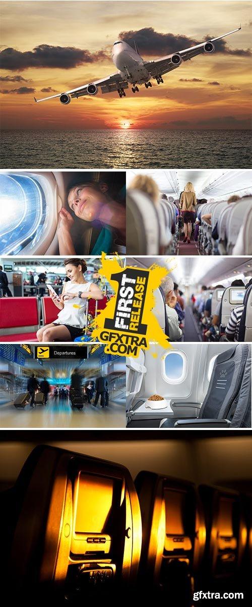 Stock Image Passenger airplane