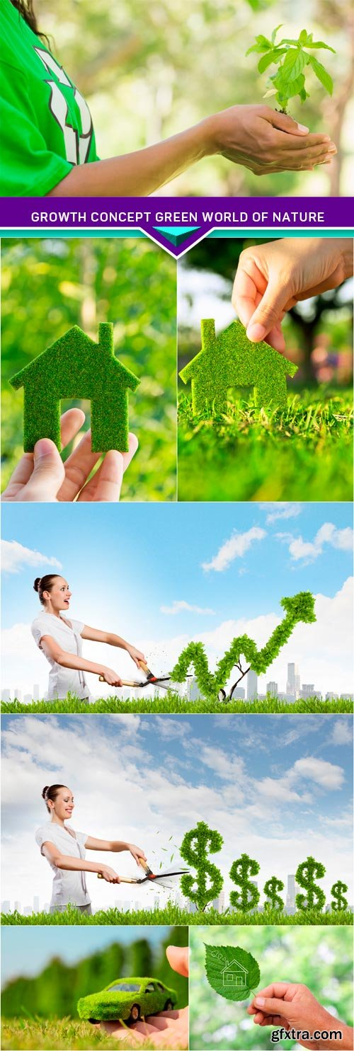 Growth concept green world of nature 7x JPEG