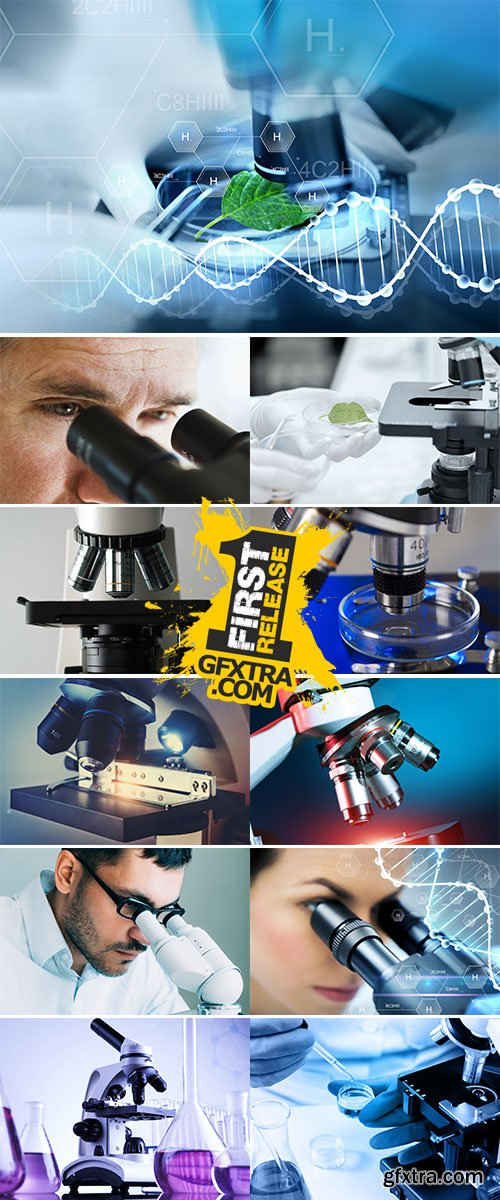 Stock Image Medical microscope closeup