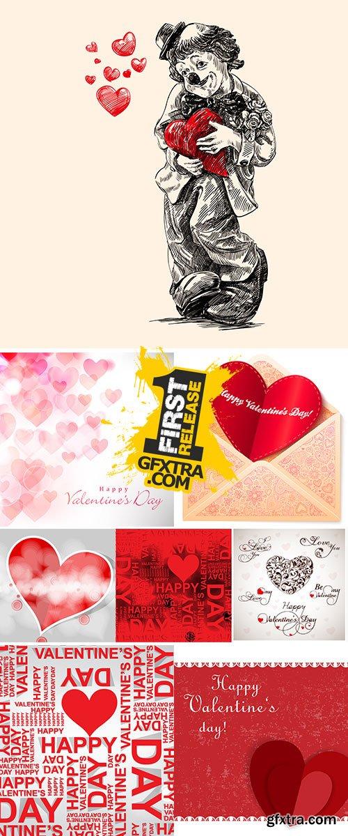 Stock Happy valentine day,fine daisy color tone design