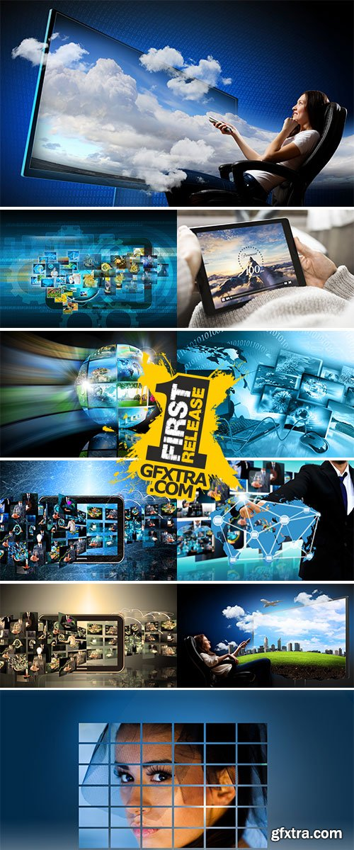 Stock Image Television and internet production