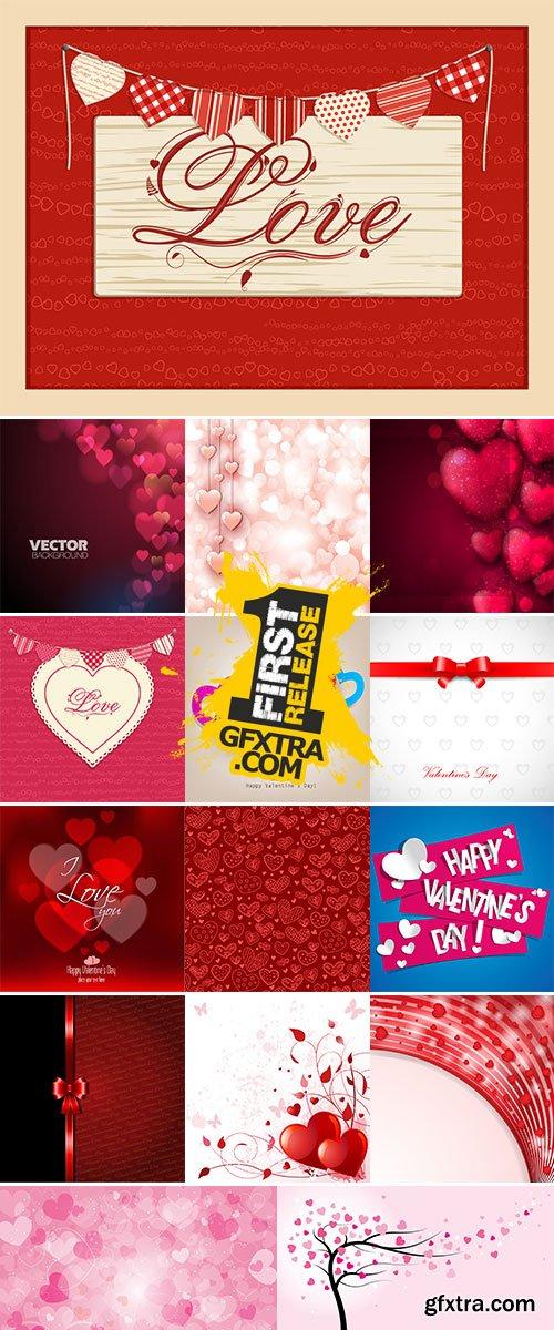 Stock Valentine background vector