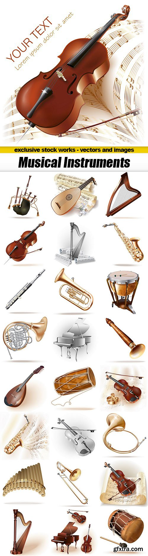 Musical Instruments - 25xEPS