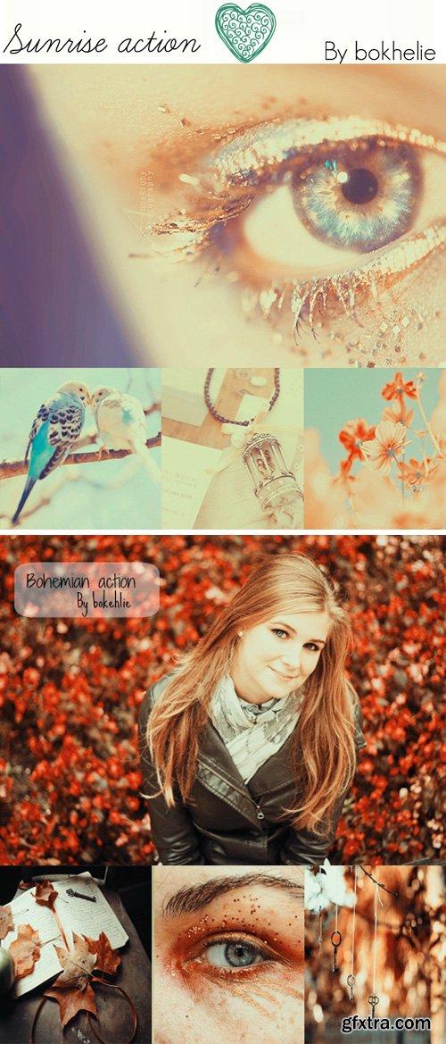 Photoshop Actions - Sunrise & Bohemian