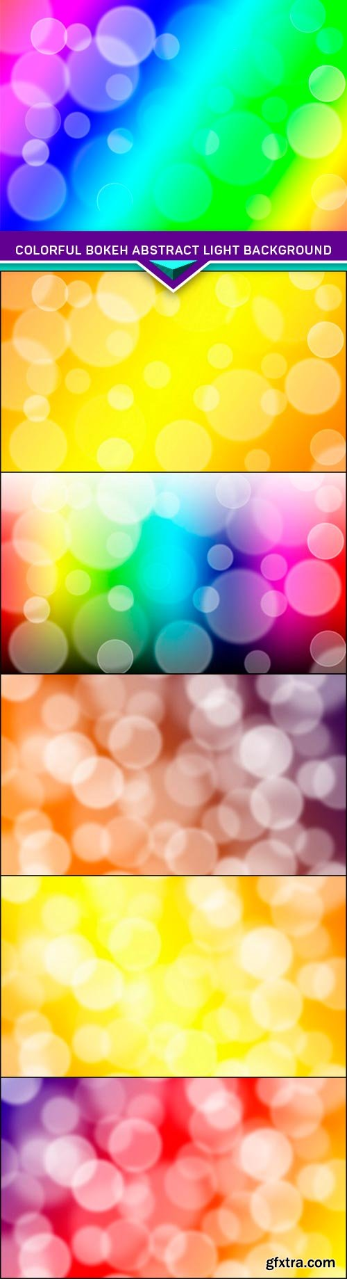 Colorful bokeh abstract light background 6x JPEG