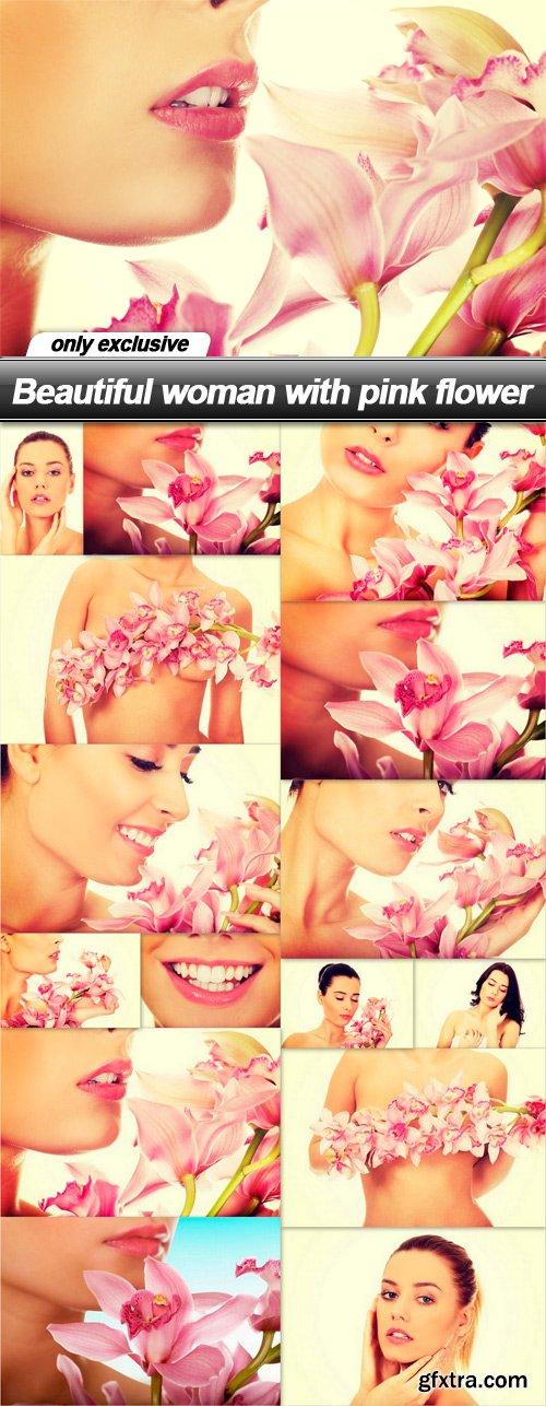 Beautiful woman with pink flower - 15 UHQ JPEG