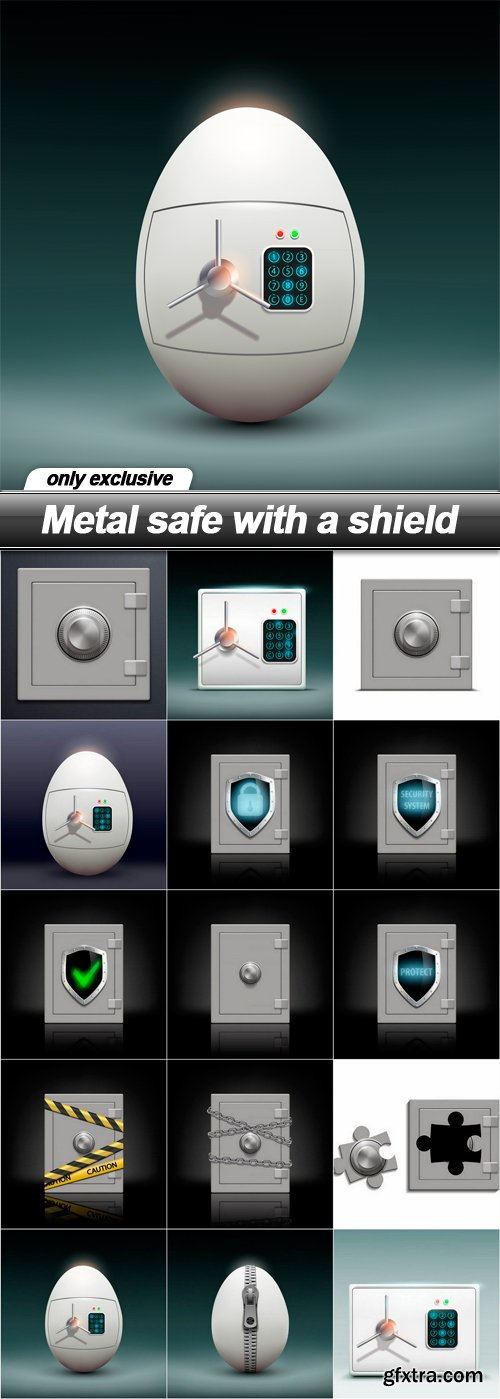 Metal safe with a shield - 15 EPS