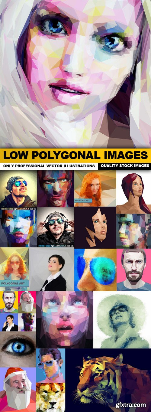 Low Polygonal Images - 25 Vector