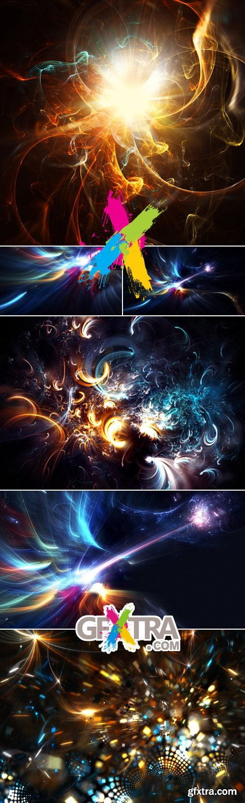 Stock Photo - Abstract Fractal Backgrounds