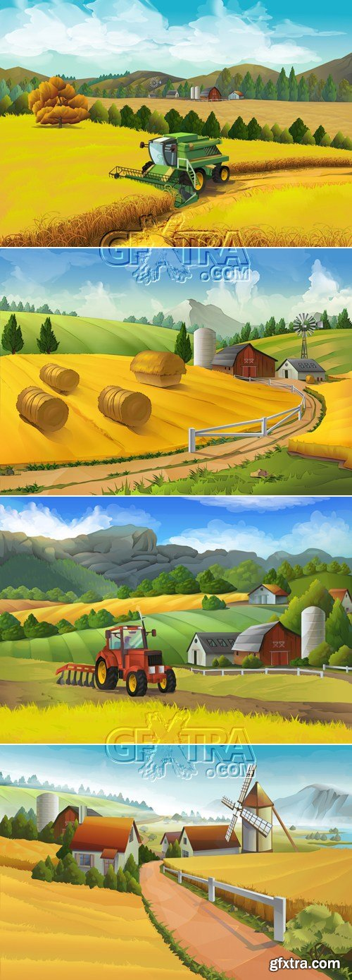 Rural Landscapes Vector 2