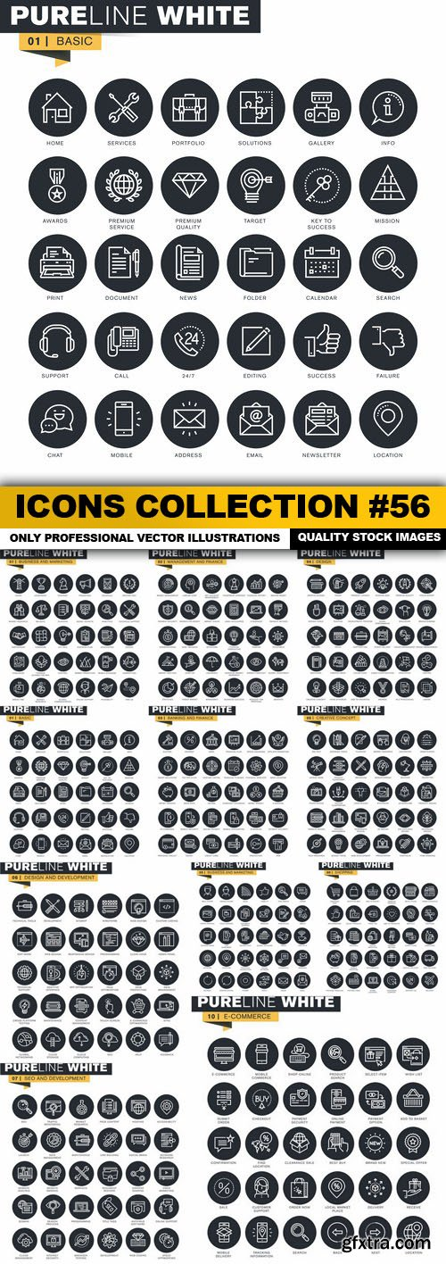 Icons Collection #56 - 11 Vector