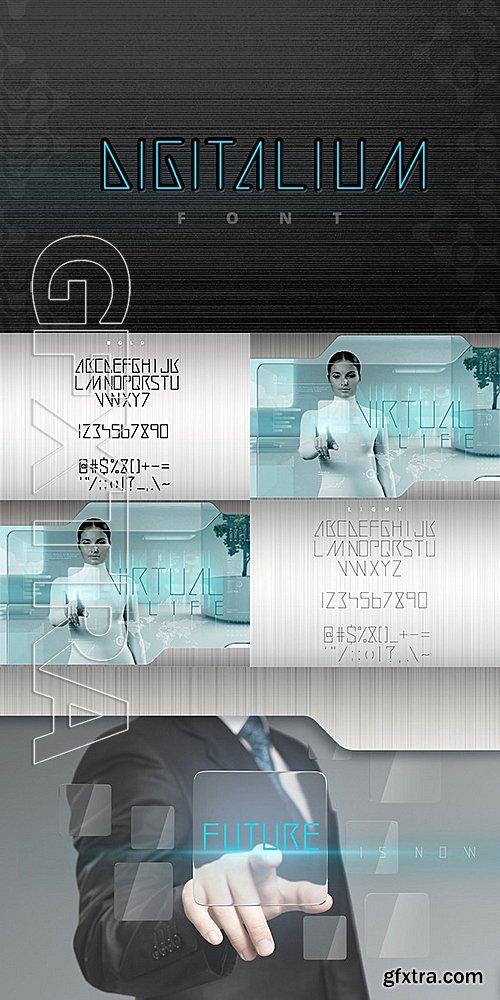 CM - Digitalium Condensed Future Font 493163