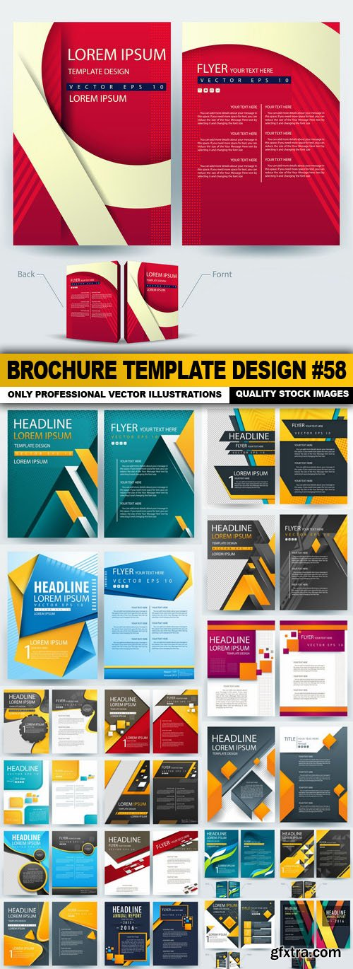 Brochure Template Design #58 - 20 Vector