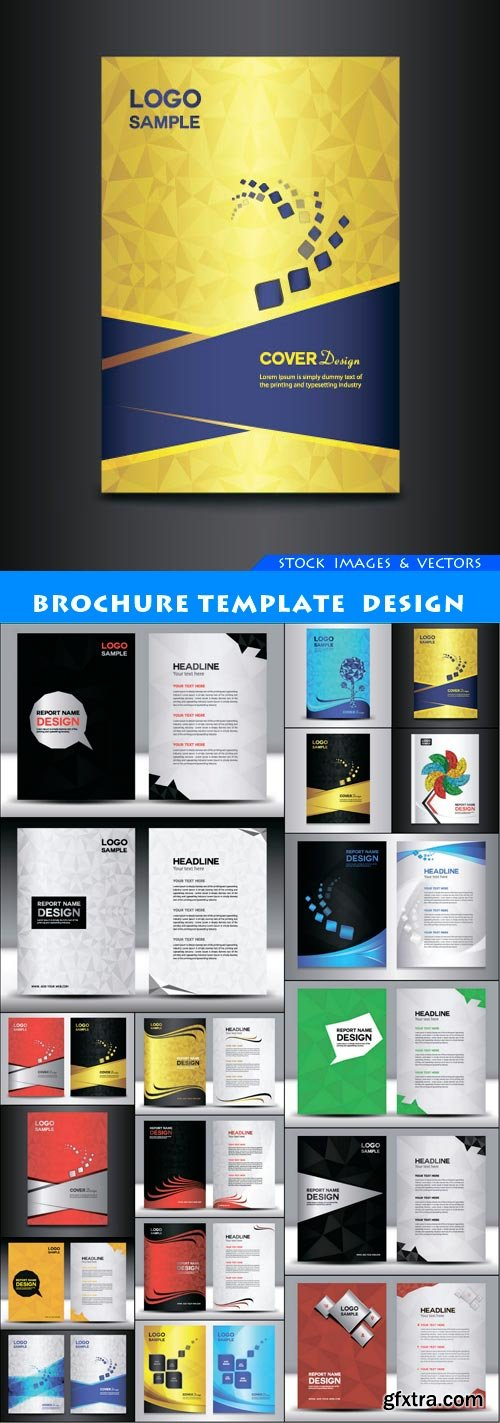 brochure template design 18X EPS