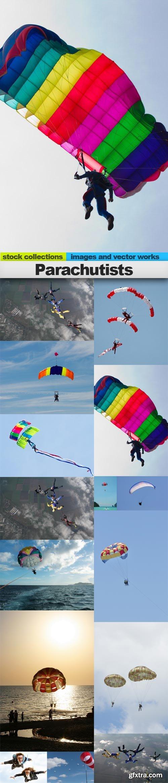 Parachutists, 15 x UHQ JPEG
