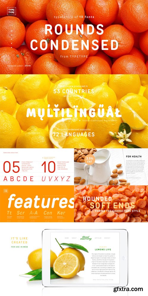 TT Rounds Condensed Font Family $120