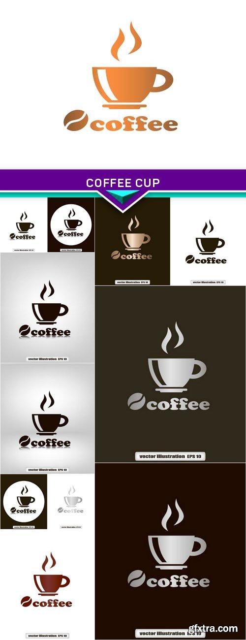 Coffee cup 12x EPS