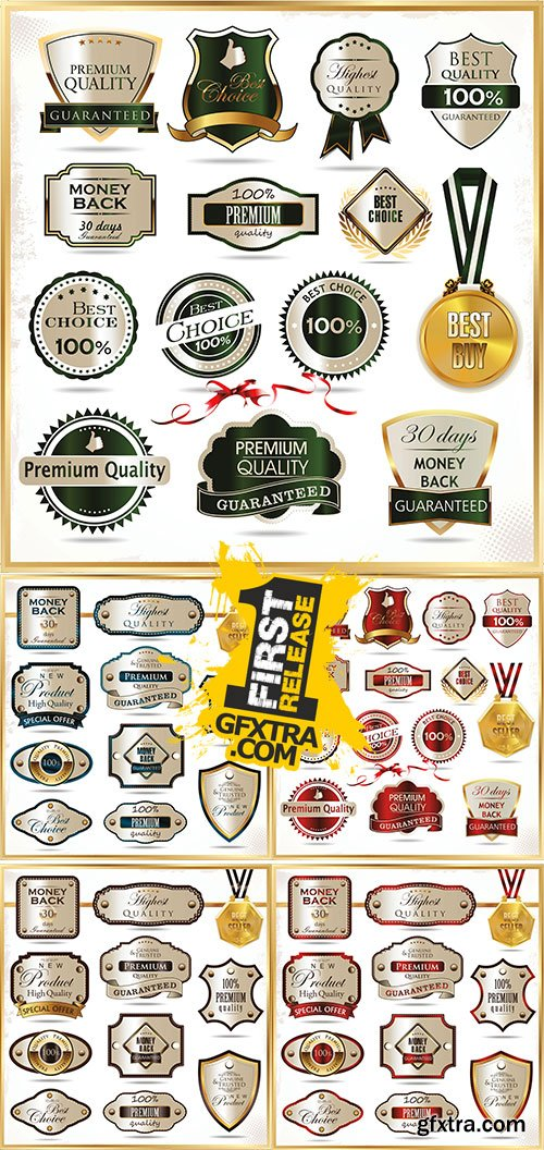 Stock Elegant labels vector