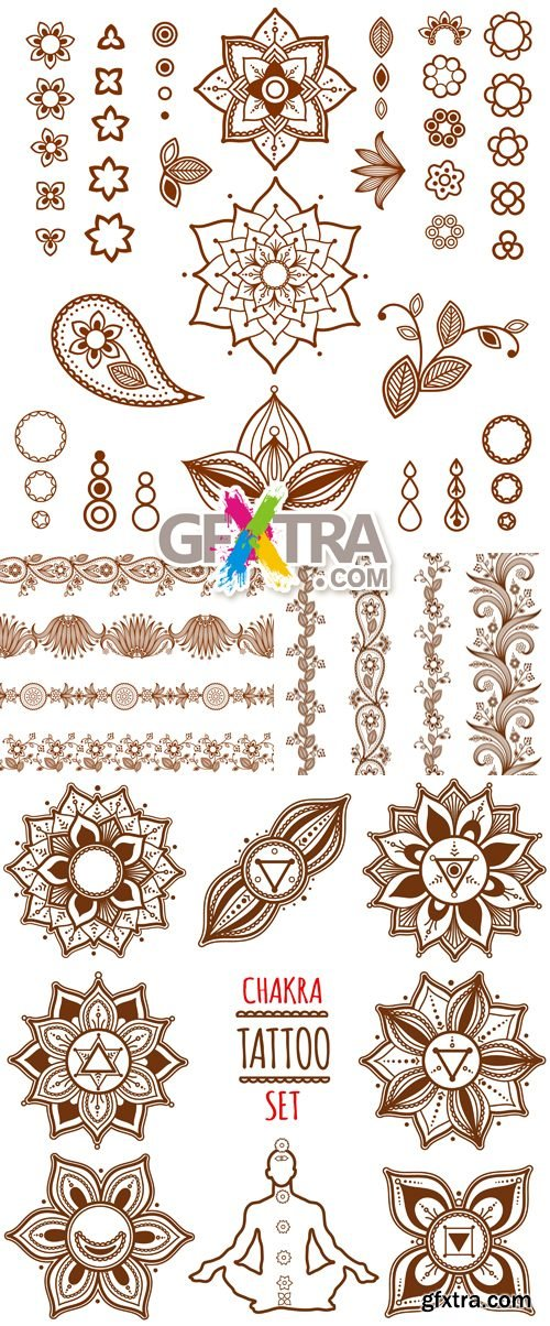 Ornamental Floral Elements Vector