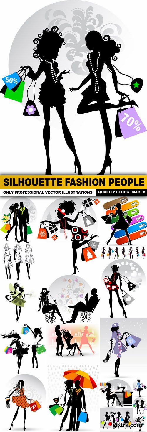 Silhouette Fashion People - 18 Vector