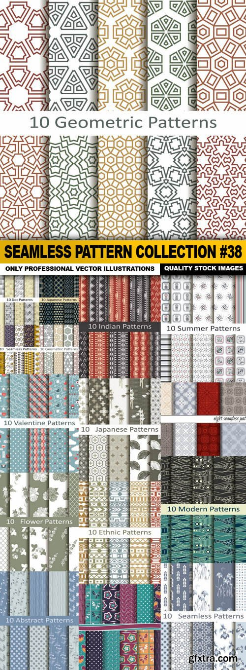 Seamless Pattern Collection #38 - 15 Vector