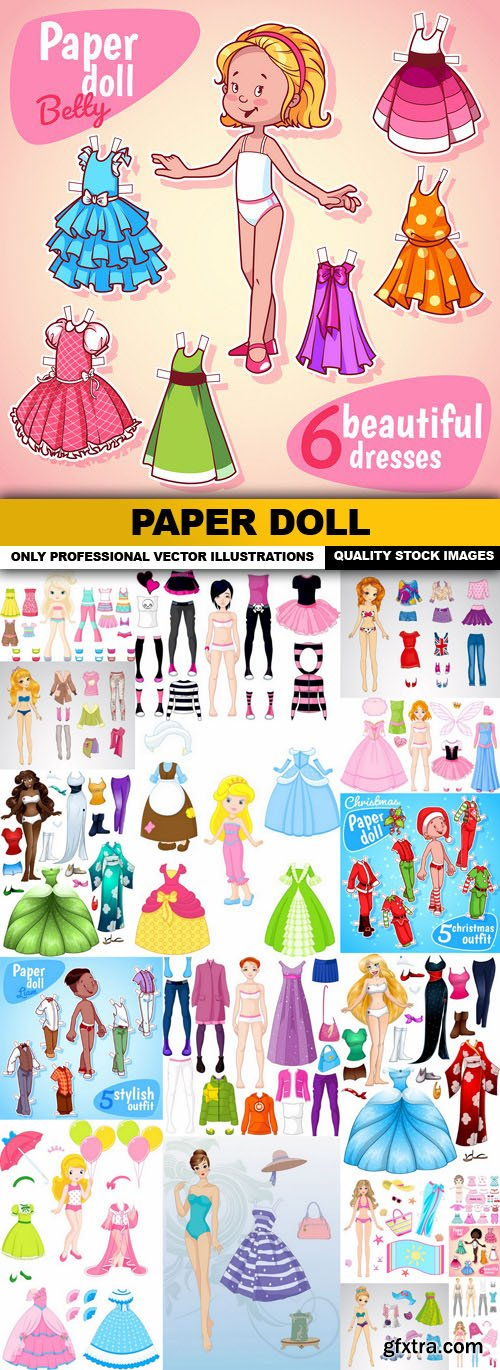 Paper Doll - 20 Vector