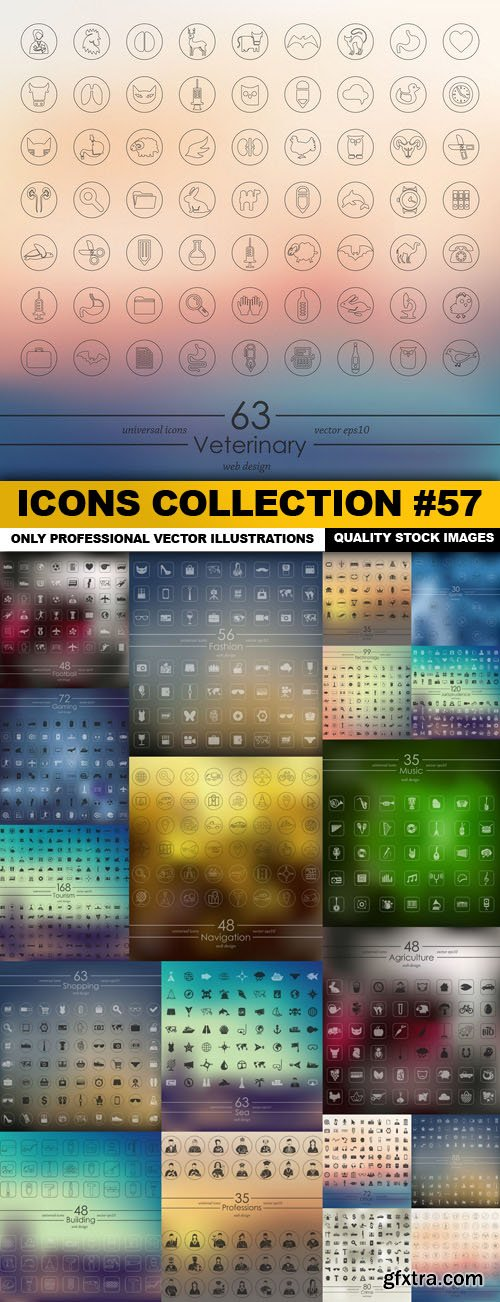 Icons Collection #57 - 19 Vector