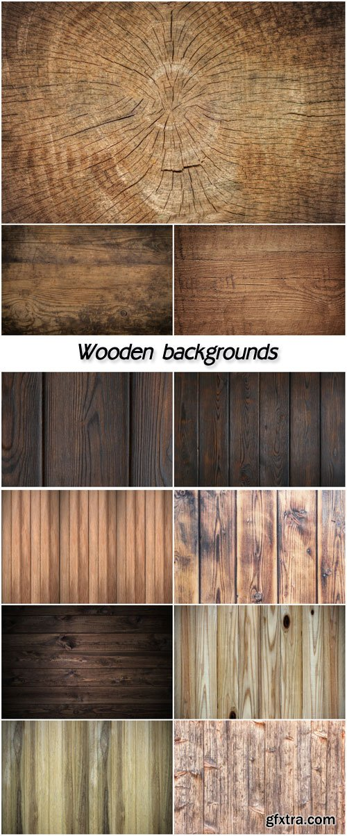 Wooden backgrounds, textures
