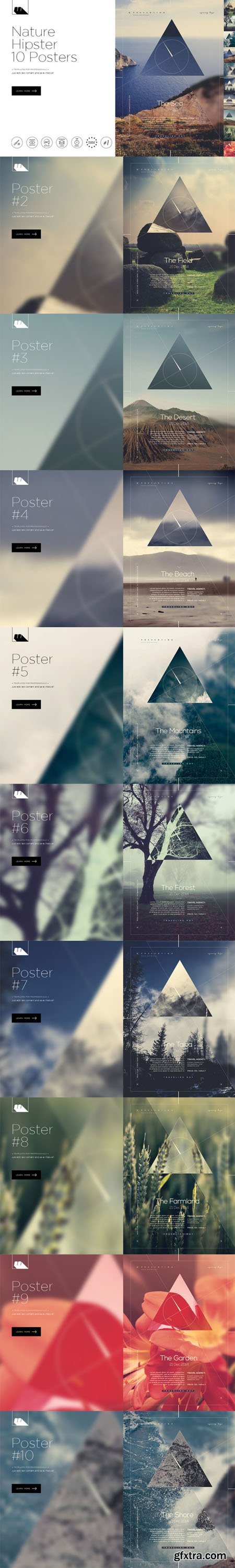 CM - Hipster Nature 10 Posters 494161