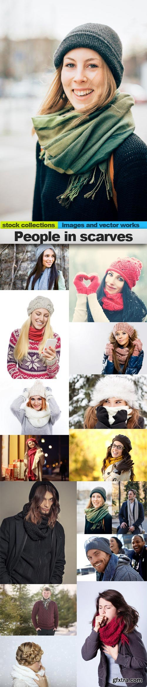 People in scarves, 15 x UHQ JPEG