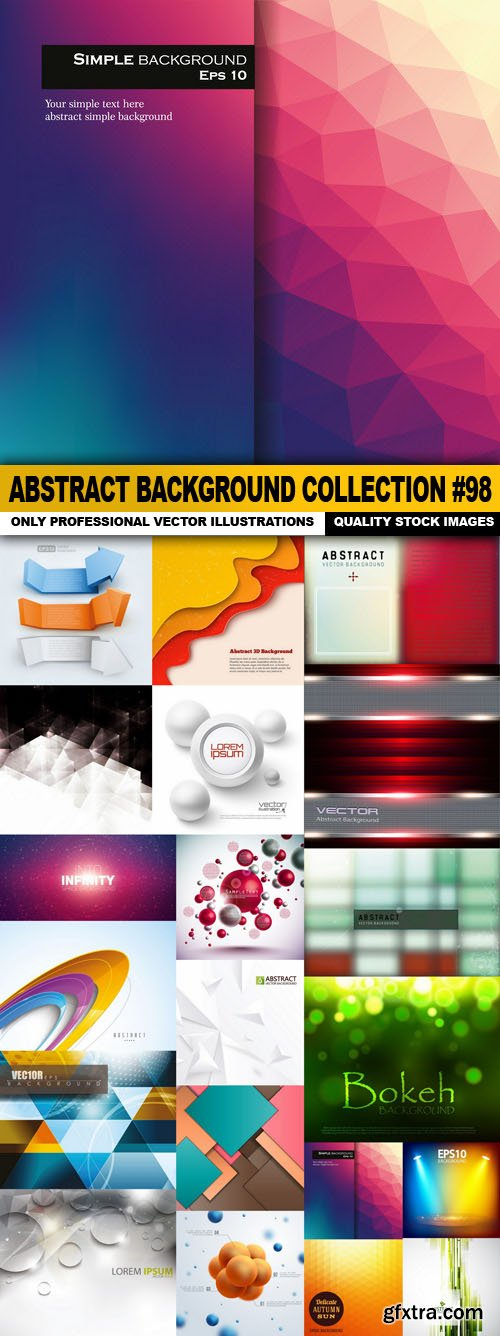 Abstract Background Collection #98 - 20 Vector