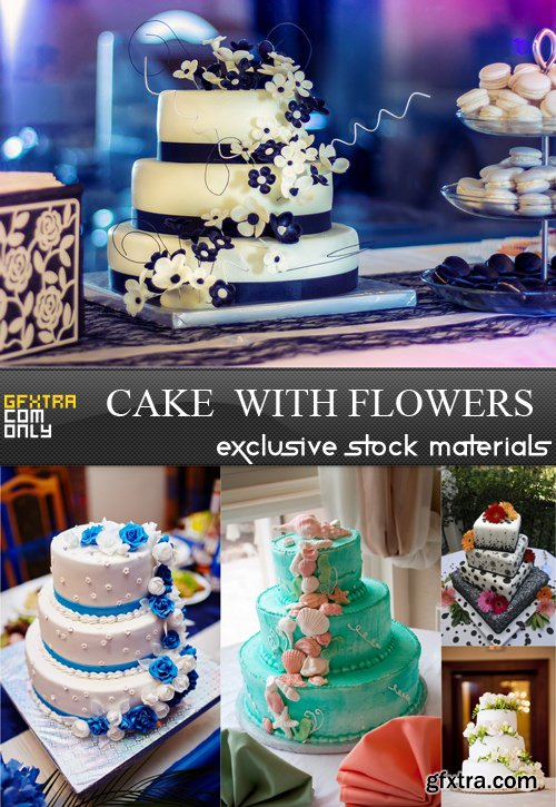 Cake with Flowers - 5 UHQ JPEG