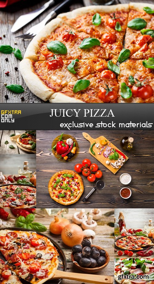 Juicy Pizza - 7 UHQ JPEG
