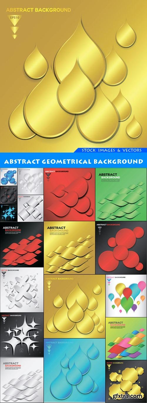 Abstract Geometrical background 18X EPS