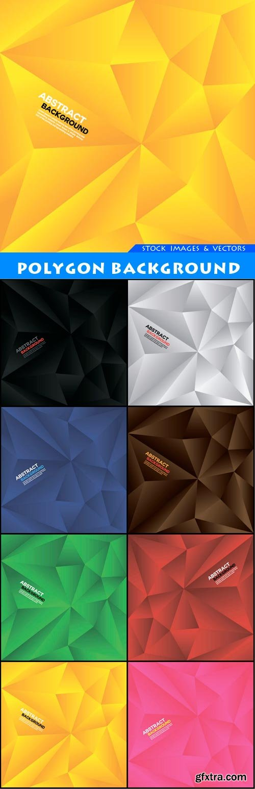 polygon background 8X EPS