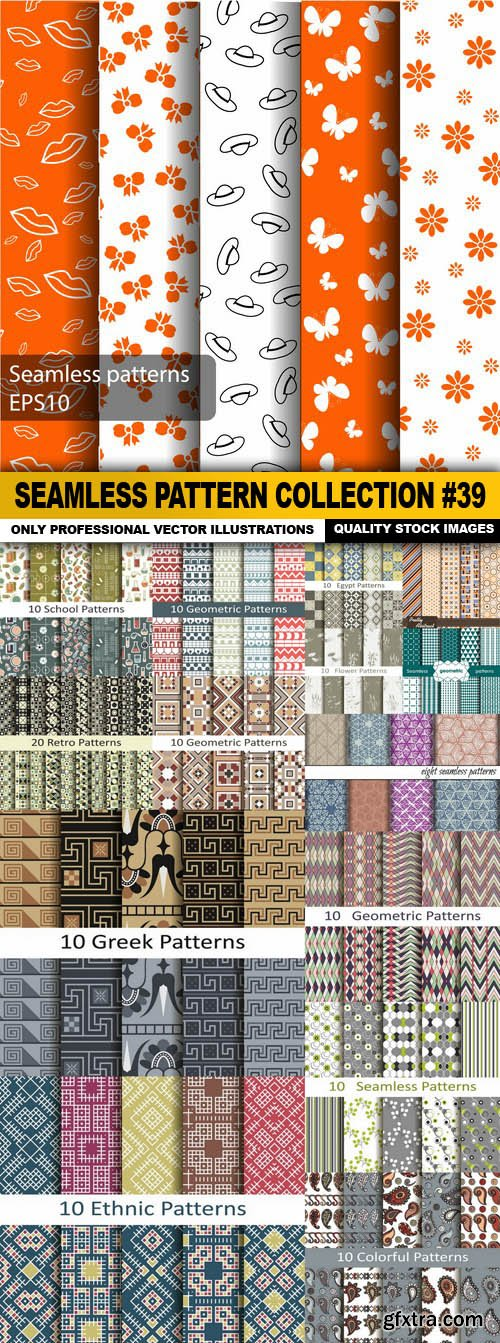 Seamless Pattern Collection #39 - 15 Vector