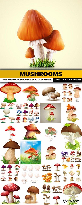 Mushrooms - 25 Vector