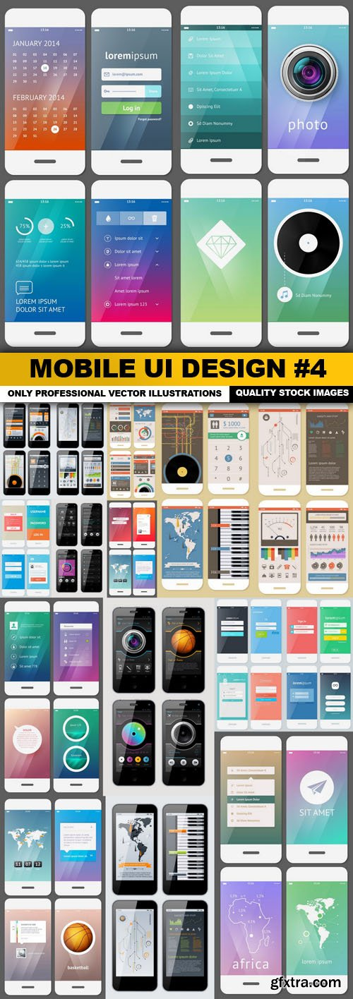 Mobile UI Design #4 - 17 Vector