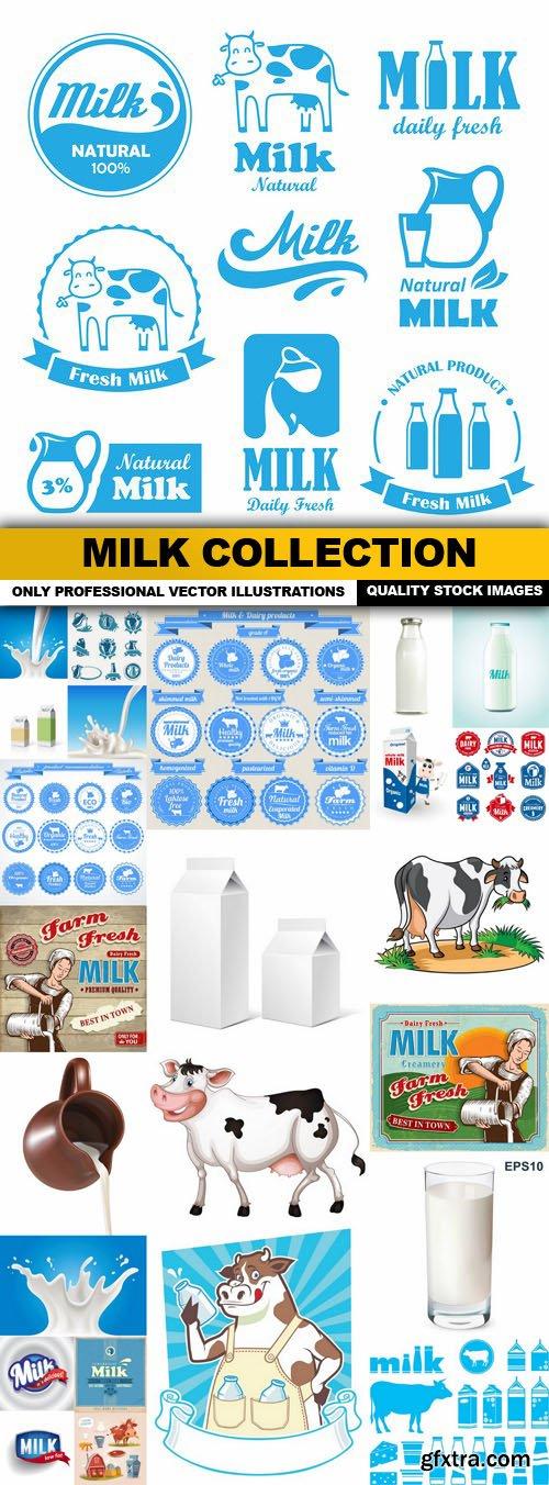 Milk Collection - 25 Vector